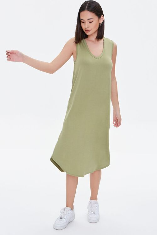 Dolphin-Hem Tank Dress, image 4
