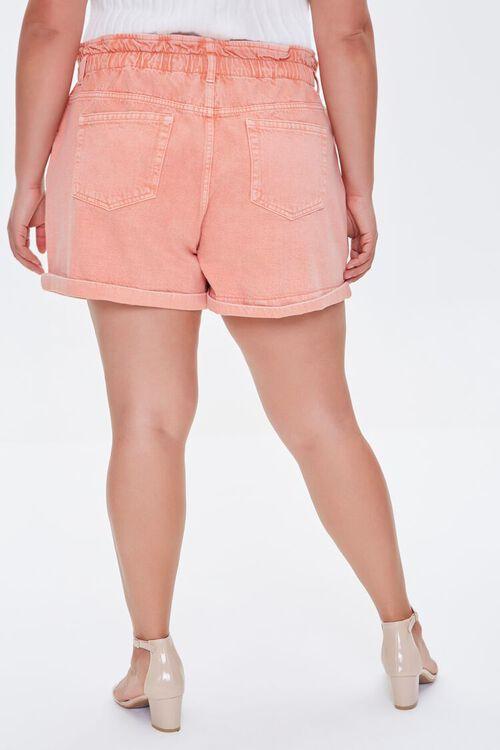 Plus Size Paperbag Denim Shorts, image 4
