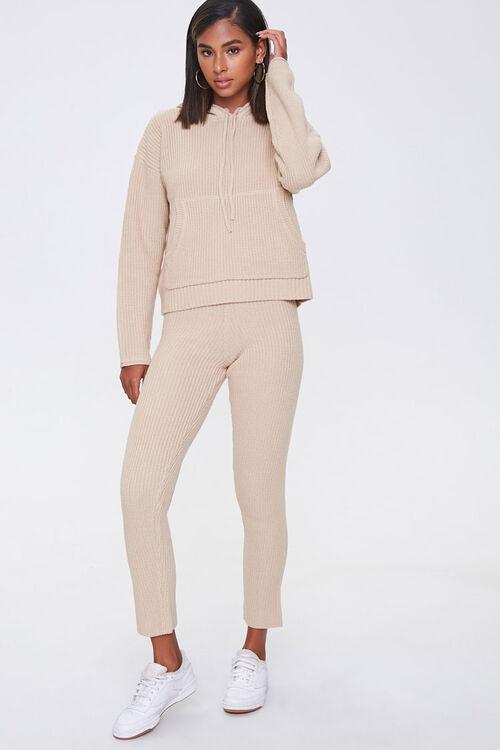 Sweater-Knit Hoodie & Pants Set, image 1