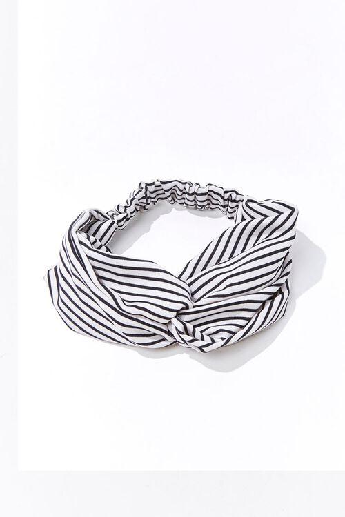 Striped Twist-Top Headwrap, image 1