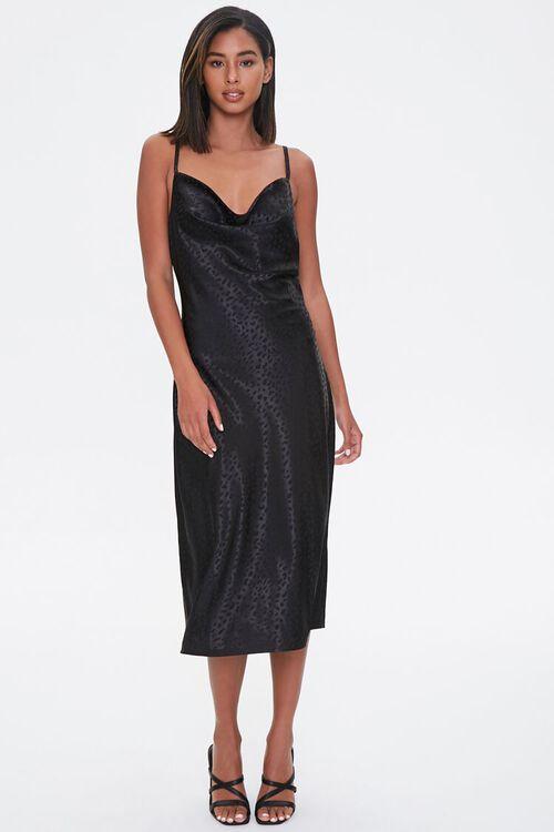 Satin Leopard Print Slip Dress, image 4