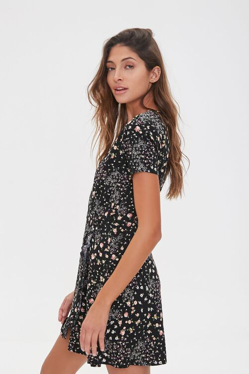 Floral Print Mini Dress, image 2
