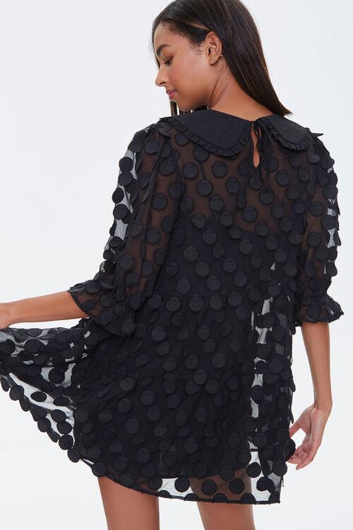 Polka Dot-Embellished Collared Dress, image 3