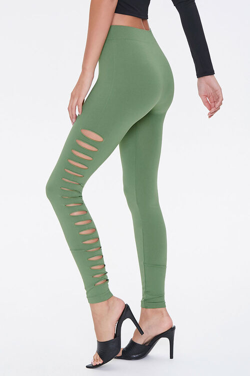 Ladder Cutout Leggings, image 1