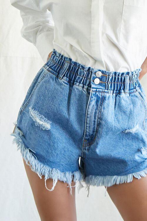 Smocked Denim Shorts, image 6
