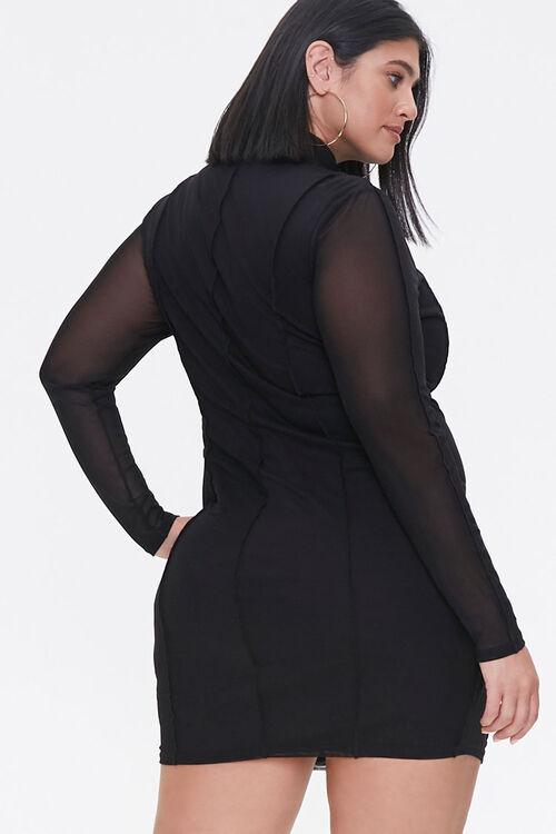 Plus Size Mock Neck Mini Dress, image 3