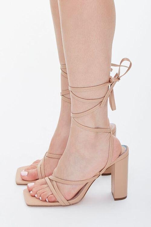Strappy Wraparound Block Heels, image 2
