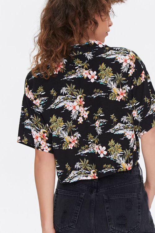 Tropical Print Cropped Shirt, image 4