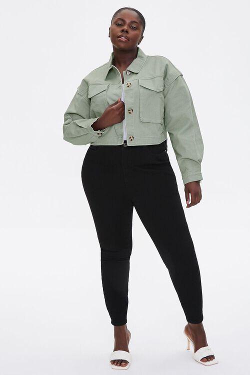Plus Size Layered Cotton Jacket, image 4