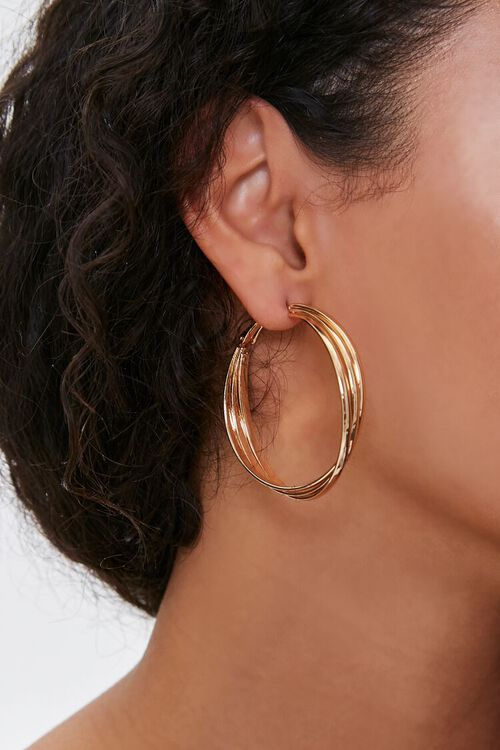 Layered Hoop Earrings, image 1