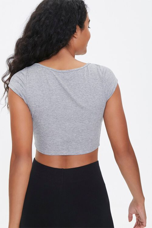 Active Button-Down Crop Top, image 3