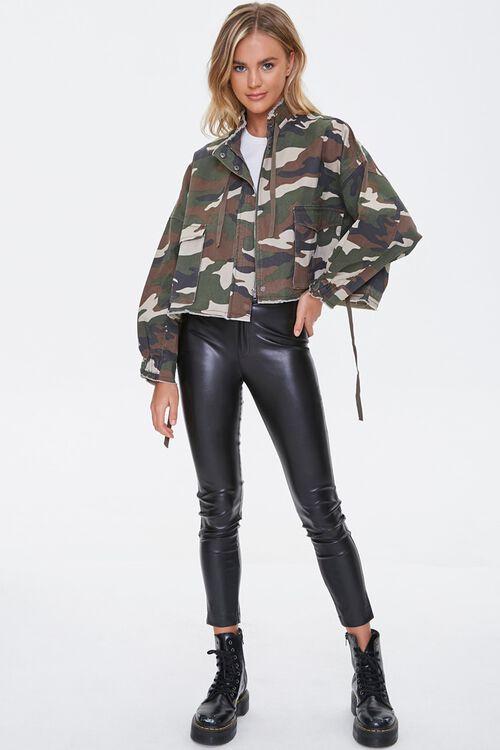 OLIVE/MULTI Frayed Camo Print Jacket, image 4