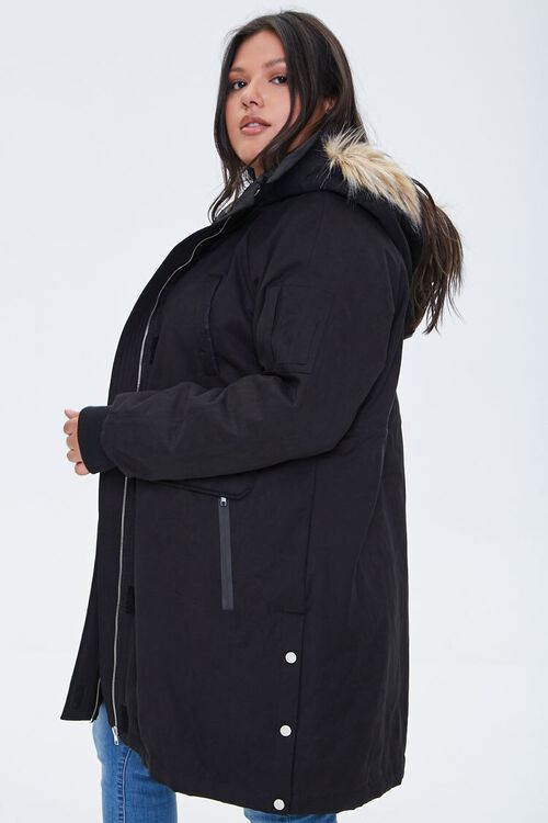 Plus Size Faux Fur-Trim Parka, image 2