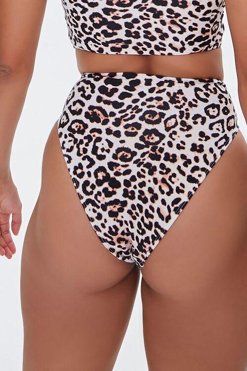 Leopard Print Self-Tie Bikini Bottoms, image 4