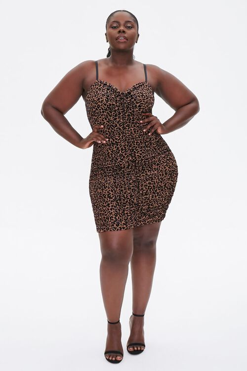 Plus Size Velvet Leopard Dress, image 4