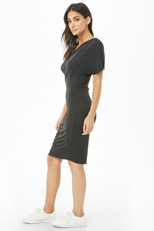 Ruched Knee-Length Dress, image 2