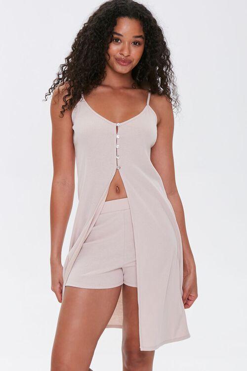 Split-Front Cami Tunic & Shorts Set, image 1