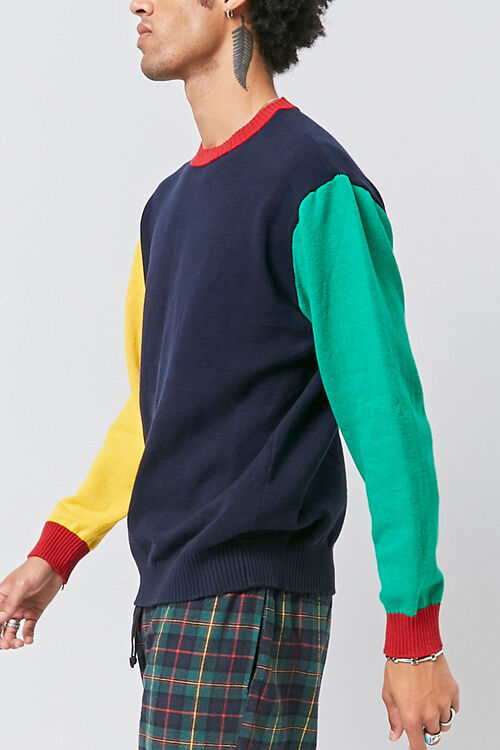 Colorblock Ribbed Sweater, image 2