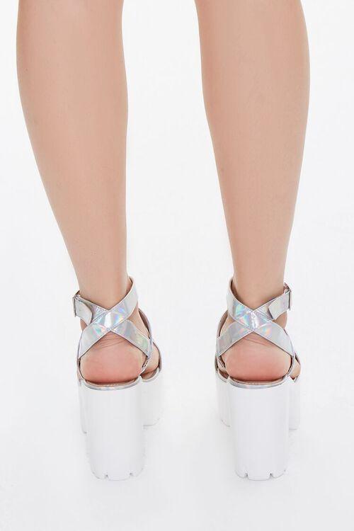 Iridescent Platform Block Heels, image 2
