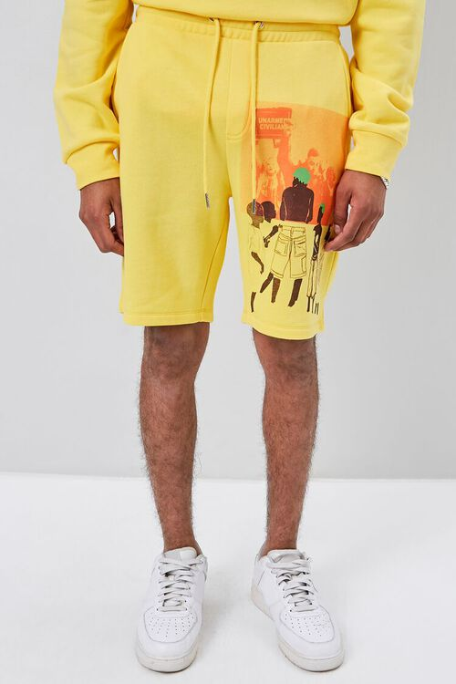 Ashley Walker Art Graphic Fleece Shorts, image 2