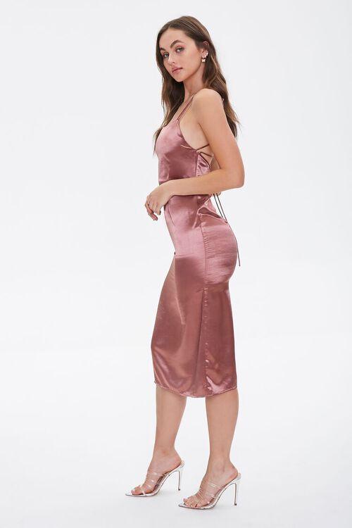 Satin Lace-Up Slip Dress, image 3