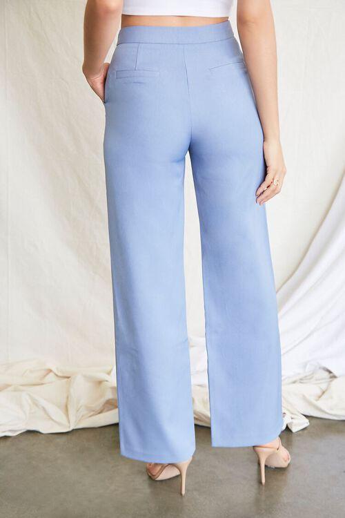 BLUE Buttoned Wide-Leg Pants, image 4