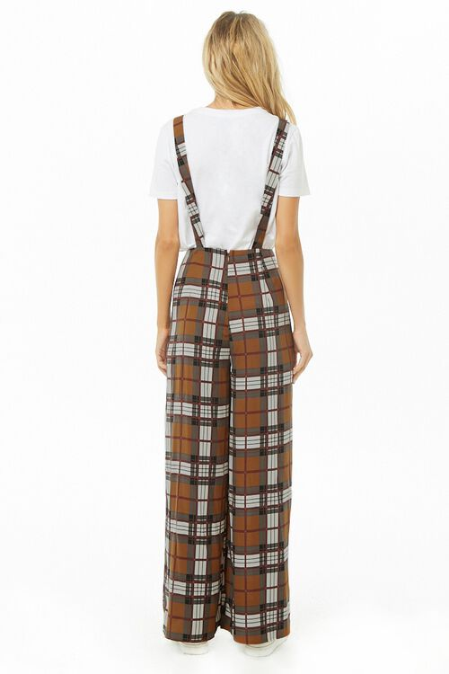 Plaid Print Pinafore Jumpsuit, image 3
