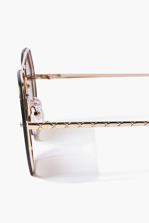 Aviator Geo Metal Sunglasses, image 5