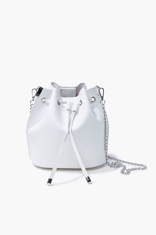 Faux Leather Crossbody Bucket Bag, image 1