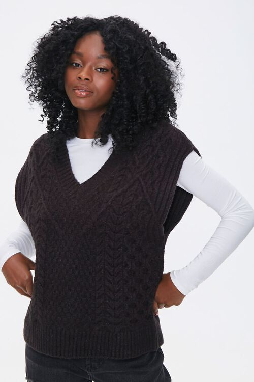 Relaxed-Fit Sweater-Knit Vest, image 1