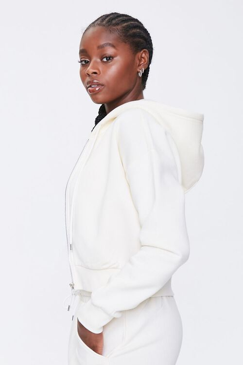 CREAM Basic Fleece Zip-Up Hoodie, image 2