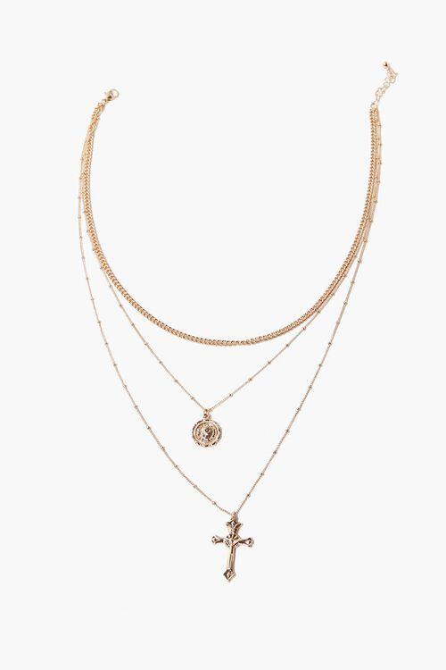 Cross Pendant Layered Necklace, image 2