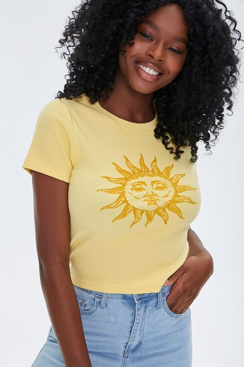Sun Graphic Ribbed Tee, image 2