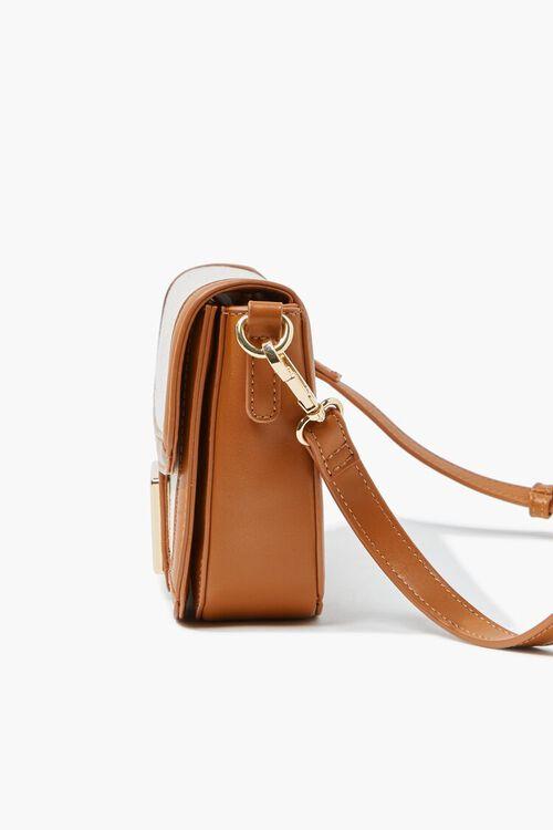 TAN/MULTI Flap-Top Structured Crossbody Bag, image 2
