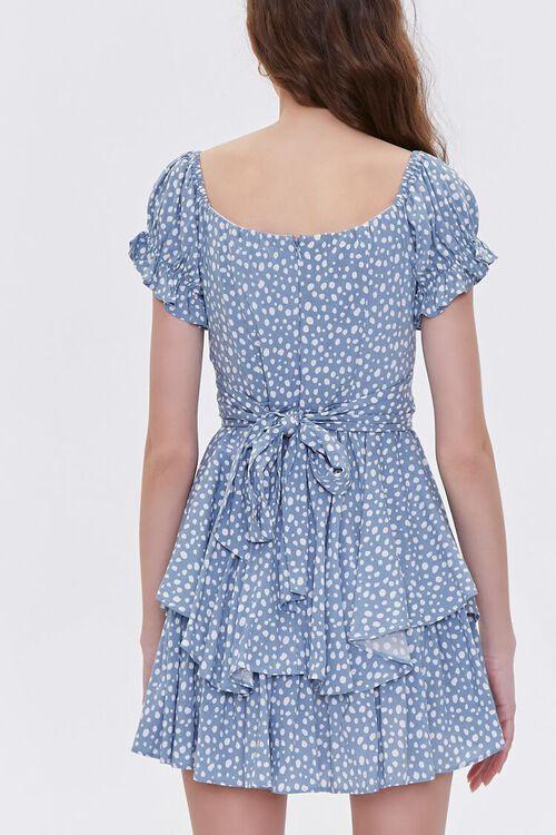 Spotted Print Flounce Mini Dress, image 3