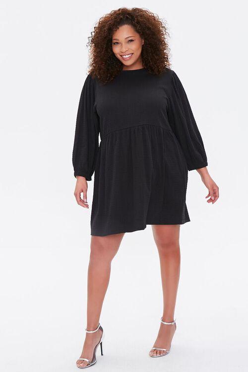 Plus Size Textured Mini Dress, image 4
