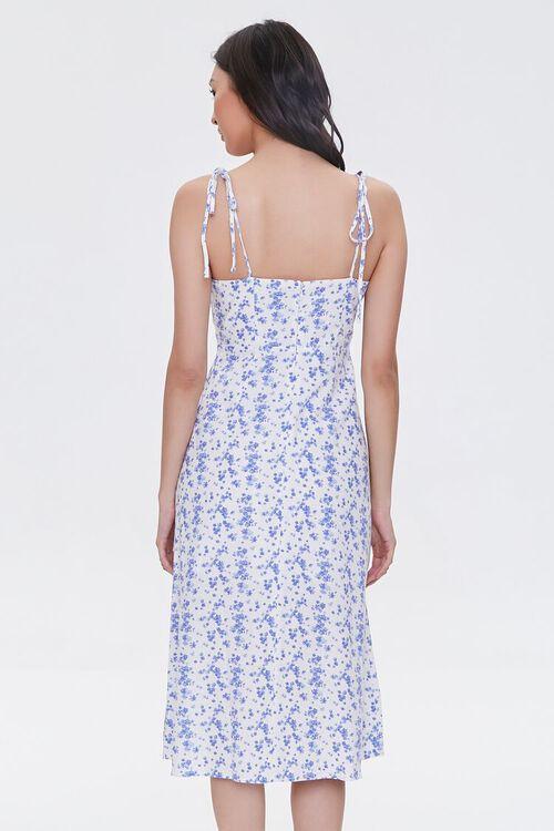 CREAM/BLUE Sweetheart Floral Dress, image 3