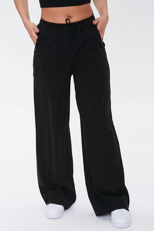 Wide-Leg Drawstring Sweatpants, image 2