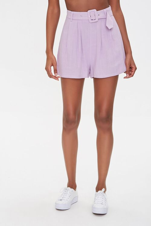 Pleated Linen-Blend Shorts, image 2