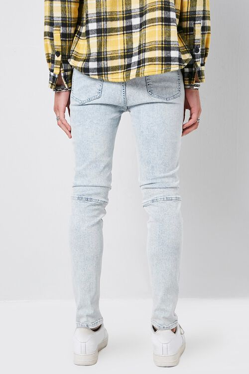 Skinny Zippered Moto Jeans, image 3