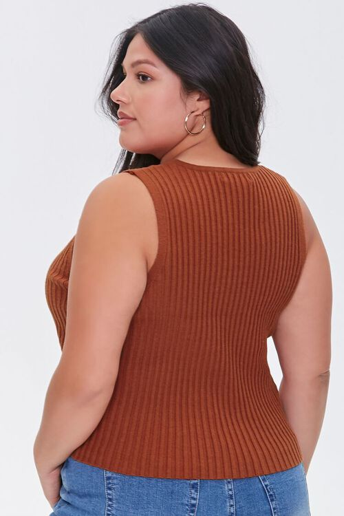 Plus Size Ribbed Sweater-Knit Vest, image 3