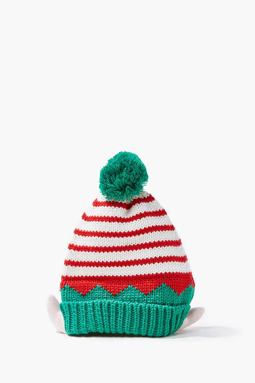 Girls Striped Elf Beanie (Kids), image 1
