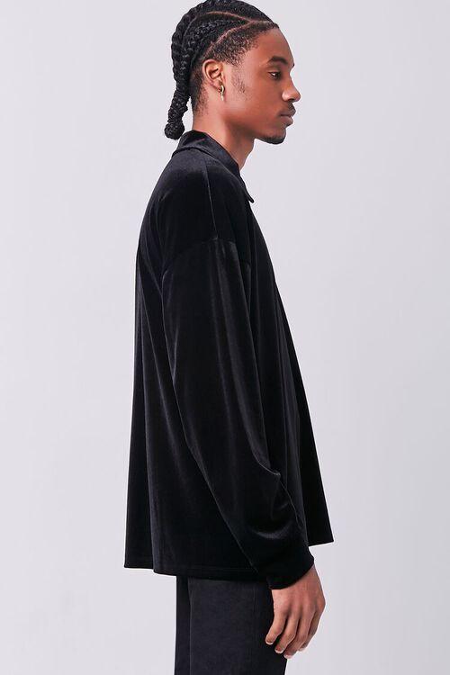 Velour Long Sleeve Polo, image 2