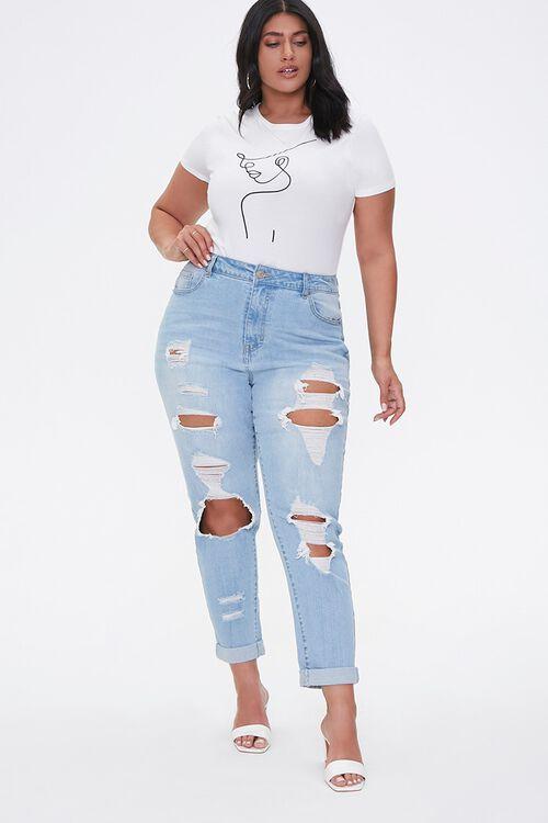 Plus Size Boyfriend Jeans, image 1