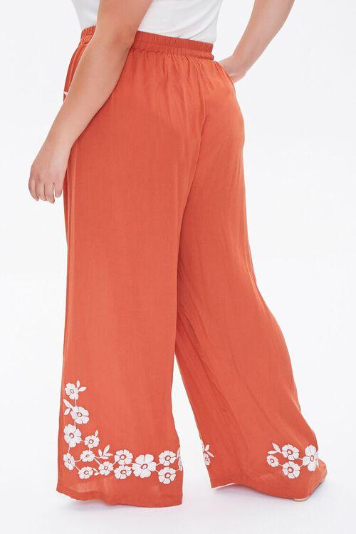 Plus Size Floral Wide-Leg Pants, image 4