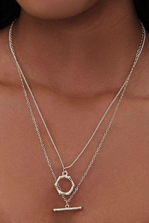 Geo Pendant Necklace Set, image 1