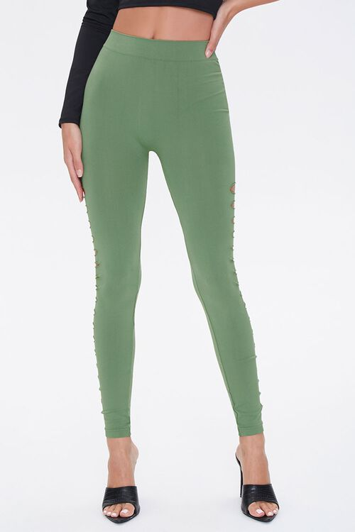 Ladder Cutout Leggings, image 2