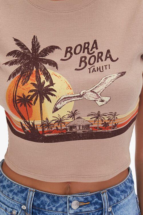 Bora Bora Tahiti Graphic Crop Top, image 5