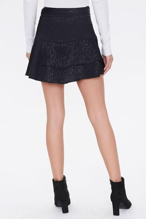 Jacquard Leopard Print Skirt, image 4