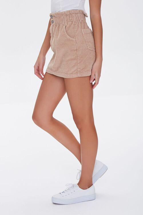 Paperbag Corduroy Mini Skirt, image 3